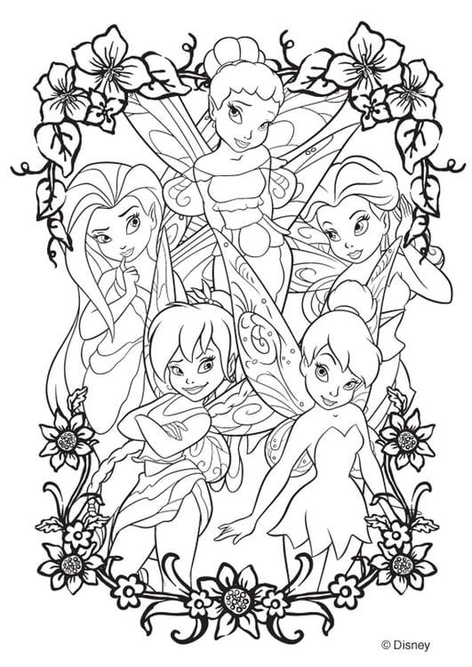 Kleurplaten Disney Fairies.Kleurplaat Disney Fairies Afb 20746