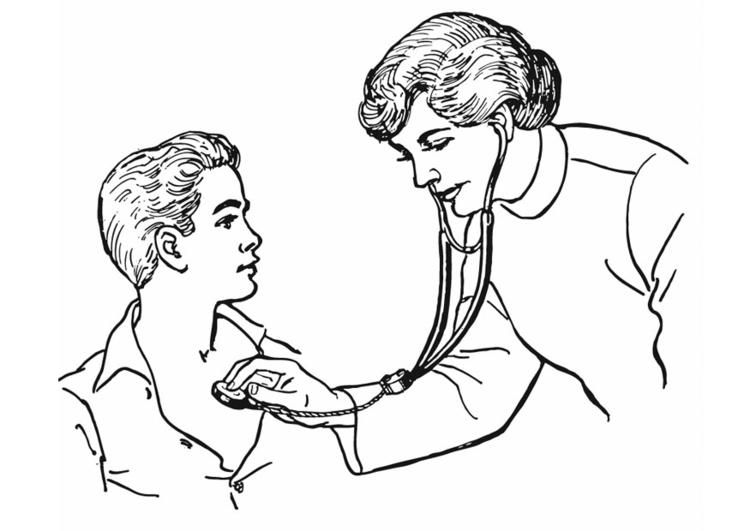 Dibujos De Medicos Para Colorear E Imprimir: Kleurplaat Dokter