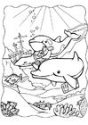 Kleurplaat dolfijnen 3