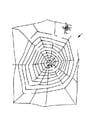 Kleurplaat doolhof - spin