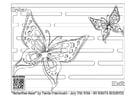 Kleurplaat doolhof - vlinder