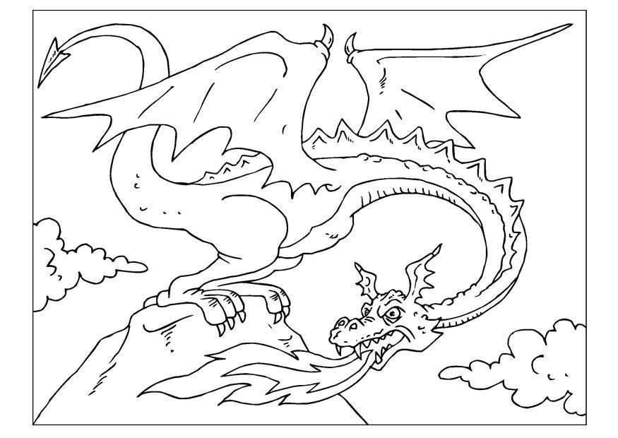 Dragon City Para Colorear: Kleurplaat Draak