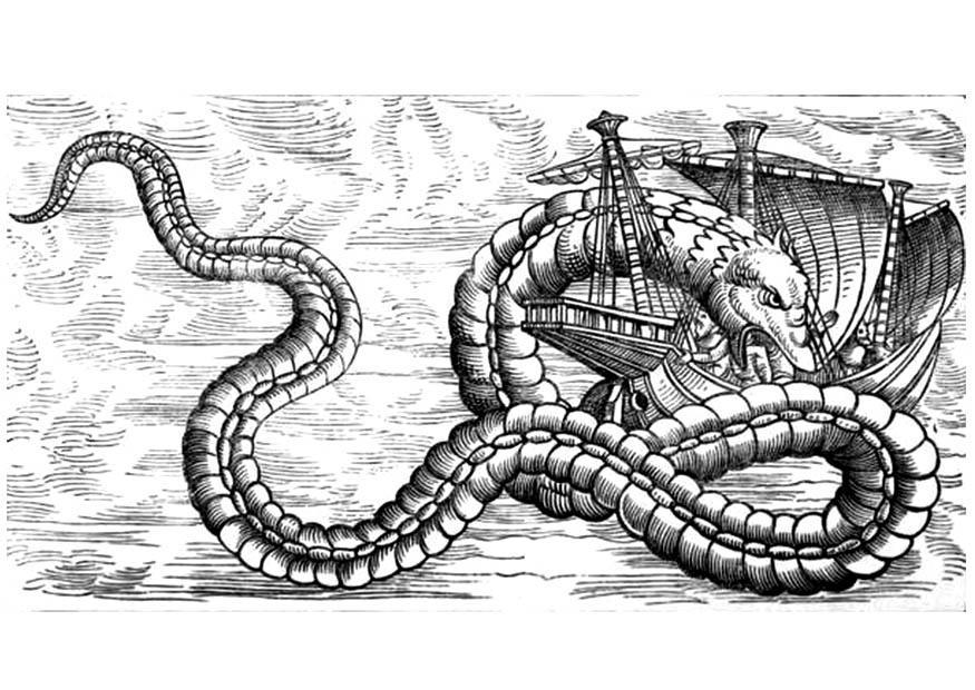 Koning Middeleeuwen Kleurplaat Kleurplaat Draak Valt Schip Aan Afb 11293