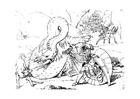 Kleurplaat drakendoder