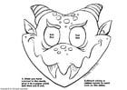 Kleurplaat drakenmasker