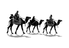 Kleurplaat drie koningen