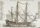 Kleurplaat driemaster oorlogschip