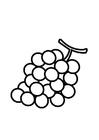 Kleurplaat druiven