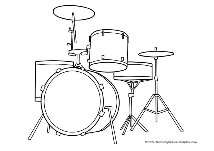 kleurplaat drumstel gratis kleurplaten om te printen