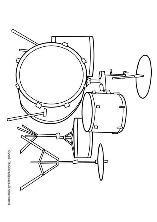 Kleurplaat Fluit Kleurplaat Drumstel Afb 5947