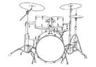 Kleurplaat drumstel