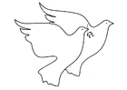 Kleurplaat duiven