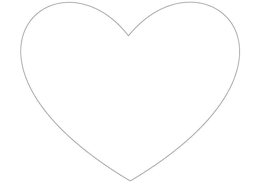 kleurplaat eenvoudig hartje afb 13816