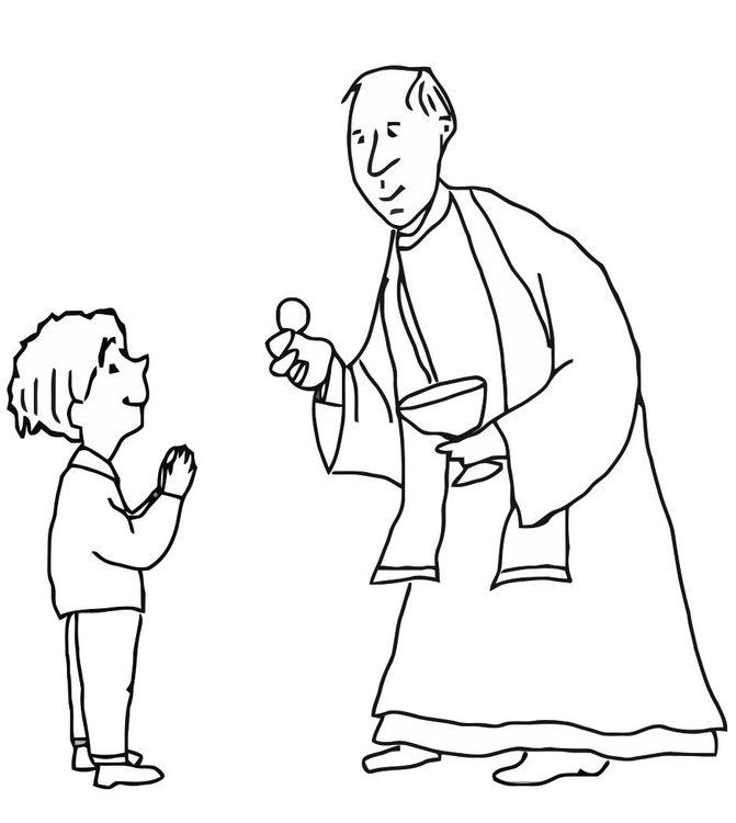Kleurplaten Eucharistie.Kleurplaat Eerste Communie Afb 21688