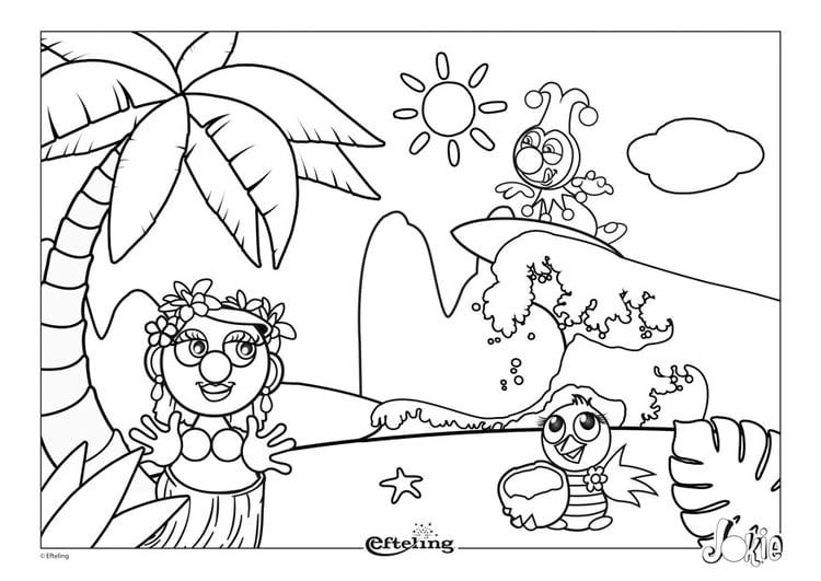 Kleurplaat Efteling Hawai Afb 28631