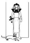 Kleurplaat Egyptische god