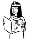 Kleurplaat egyptische vrouw