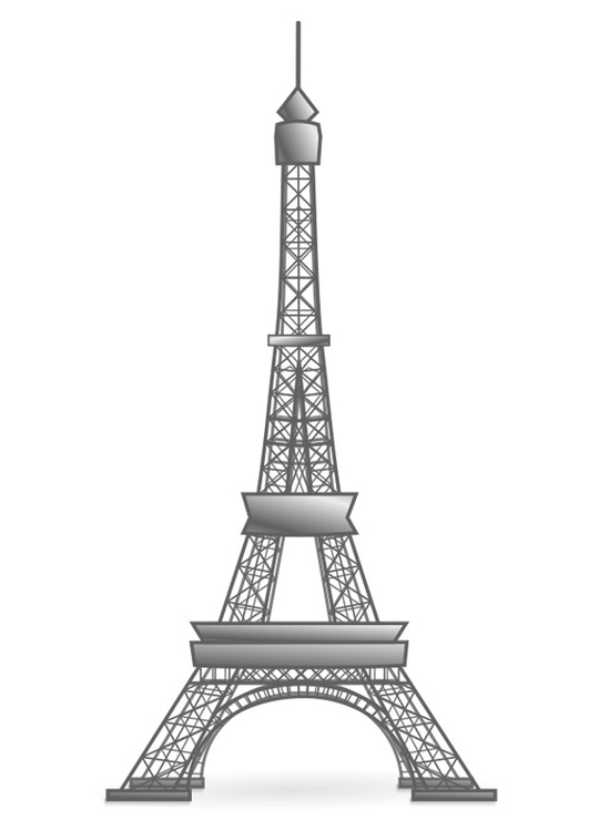 Kleurplaat Eiffeltoren Frankrijk Afb 22447