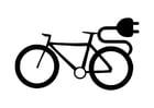 Kleurplaat elektrische fiets