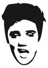 Kleurplaat Elvis Presley