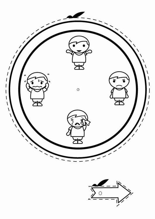 Kleurplaat Emotie Klok Jongens Afb 24796