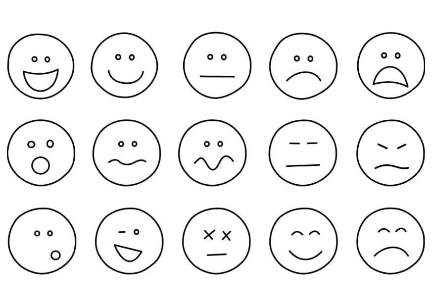 kleurplaten emoties