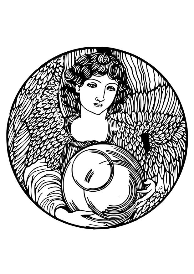 Kleurplaat Engel Afb 29188
