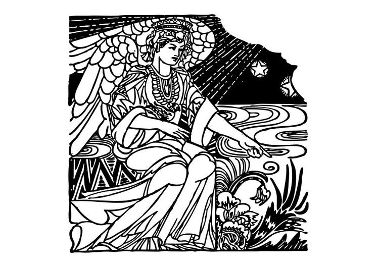 Kleurplaat Engel Afb 10546
