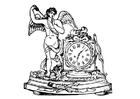 Kleurplaat engel met klok
