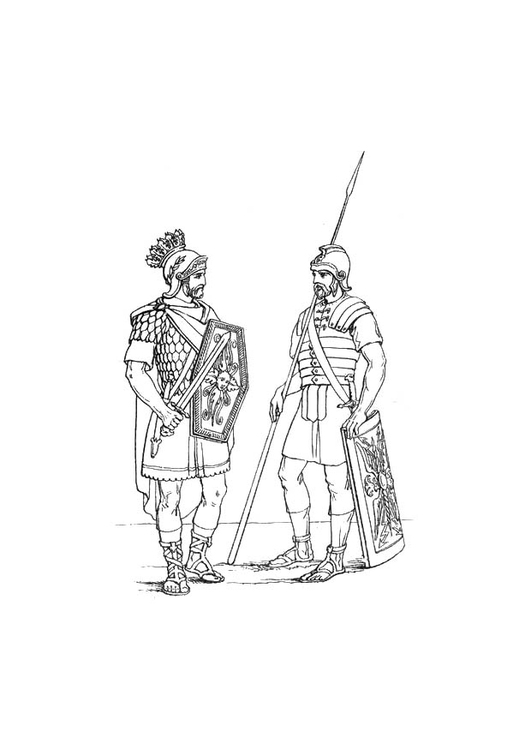 Kleurplaten Het Leger.Kleurplaat Engelse Soldaten In Het Romeins Leger Afb 10669