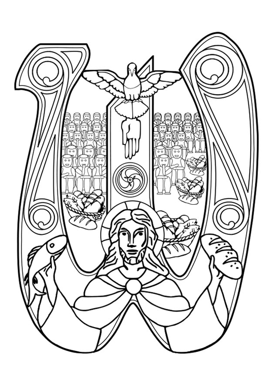 Kleurplaten Eucharistie.Kleurplaat Eucharistieviering Afb 27367