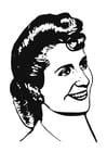 Kleurplaat Eva Perón