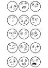 Kleurplaat expressies