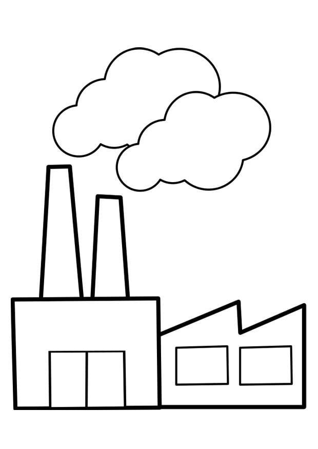 kleurplaat fabriek afb 22475