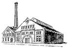 Kleurplaat fabriek