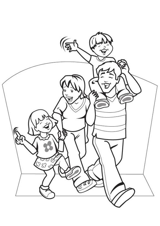 kleurplaat familie gratis kleurplaten om te printen