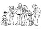 Kleurplaat familieleden