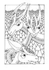 Kleurplaat fantasie dieren