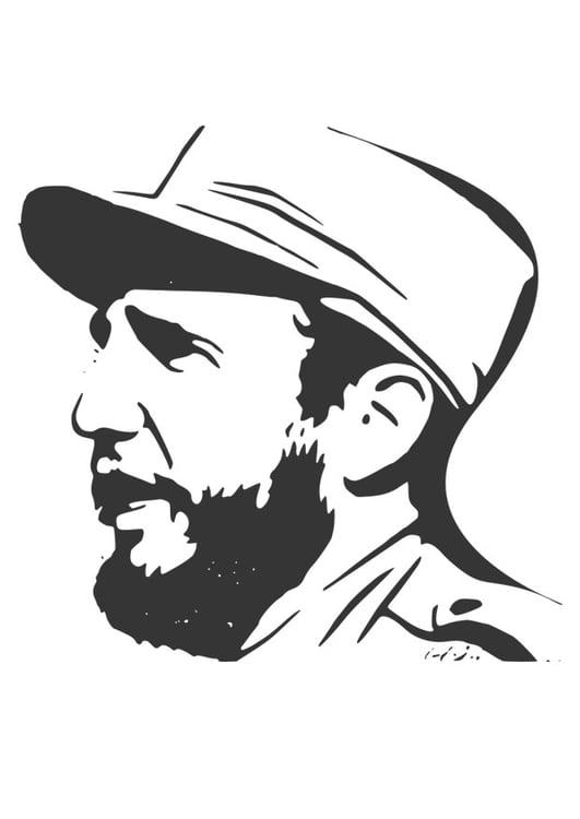 Volwassenen Y Kleurplaten Kleurplaat Fidel Castro Gratis Kleurplaten Om Te Printen