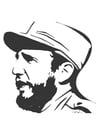 Kleurplaat Fidel Castro