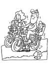 Kleurplaat fietsen