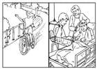 Kleurplaat fietsen - veiligheid