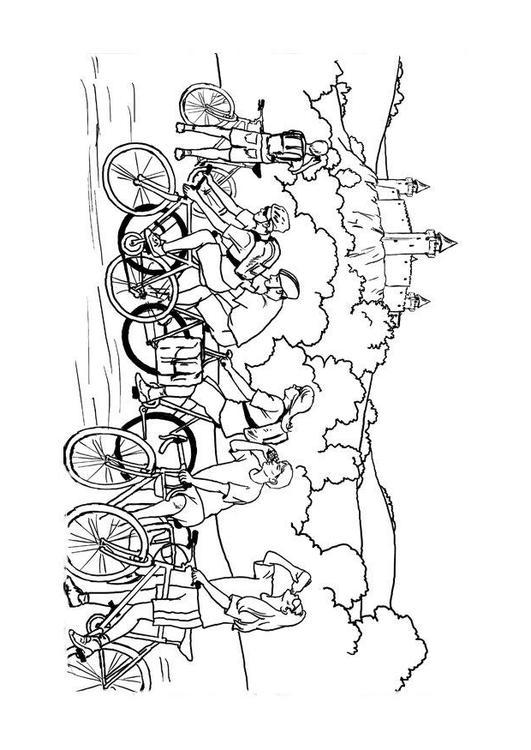 Kleurplaat Fietstocht Afb 11964