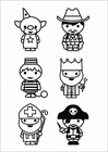 Kleurplaat figuurtjes