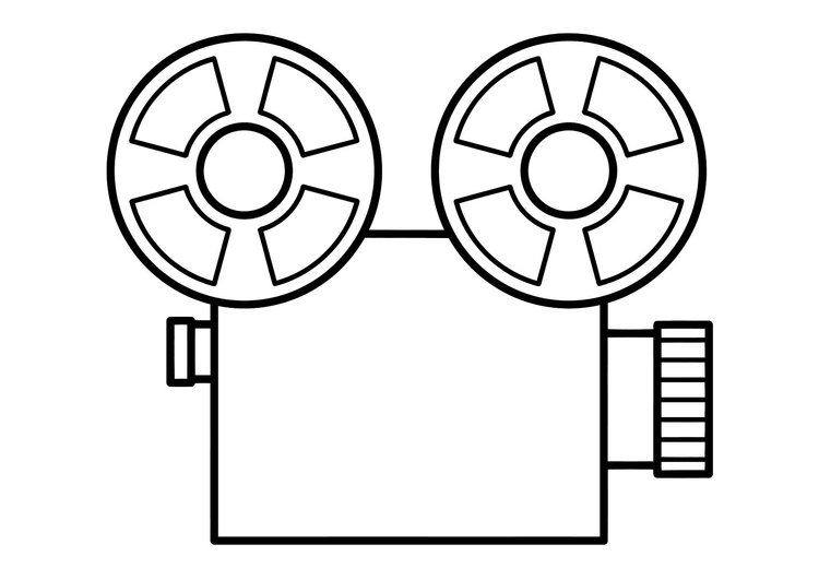 Kleurplaat Filmen Kleurplaat Film Afb 11315