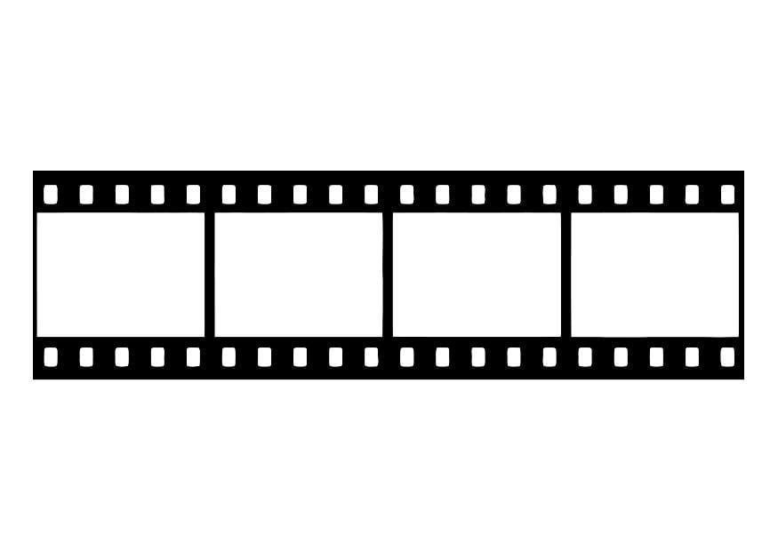 Kleurplaat Filmrol Kleurplaat Filmstrip Negatief Van Film Gratis