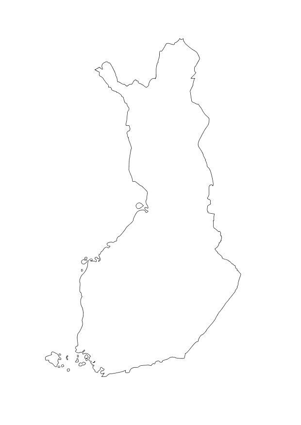 Kleurplaat Europa Kaarten Kleurplaat Finland Gratis Kleurplaten Om Te Printen