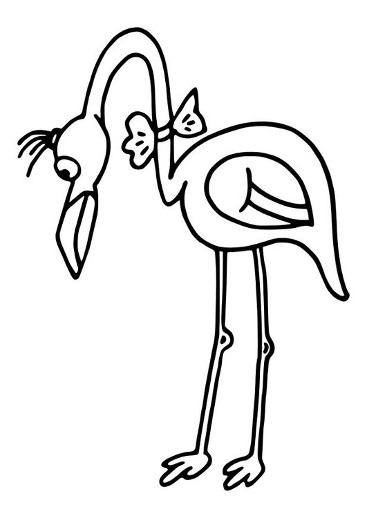 Kleurplaten Dieren Vogels Kleurplaat Flamingo Gratis Kleurplaten Om Te Printen