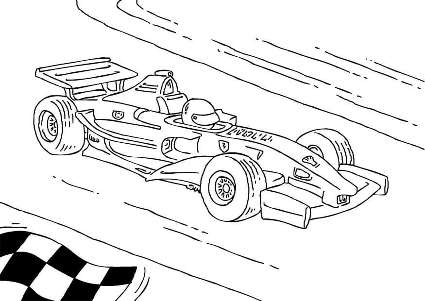 Kleurplaat Formule 1 race wagen