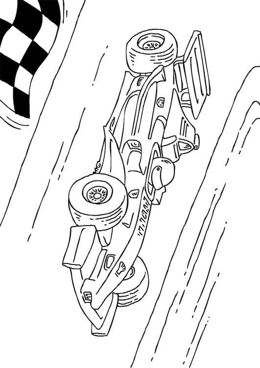 Kleurplaat Formule 1 Race Wagen Afb 27177